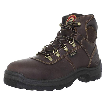 Best Boots for Plumbers Irish Setter Men's Ely Waterproof 6-inch Steel Toe Work Boot by Red Wing