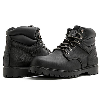 Best Boots for Plumbers KINGSHOW Men's 1366 Water Resistant Premium Work Boots