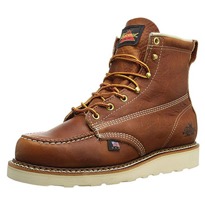 Best Work Boots for Walking Thorogood Men's American Heritage Max Wear Wedge Non-Safety Toe Boot