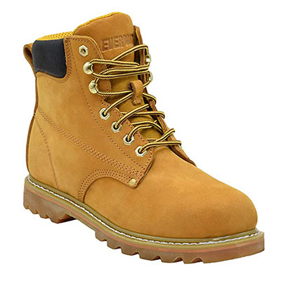 Best Work Boots for Concrete EVER BOOTS Tank Men's Soft-Toe Work Boots