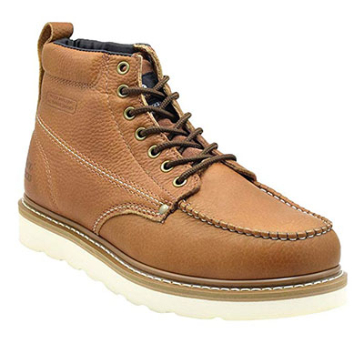 Best Work Boots for Concrete King Rocks Men's Moc-Toe Construction Boots