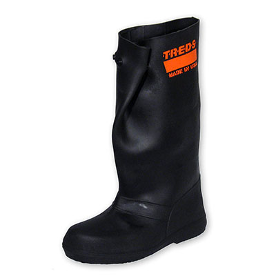 """Best Work Boots for Concrete Treds Super Tough 17"""" Pull-On Stretch Rubber Overboots"""