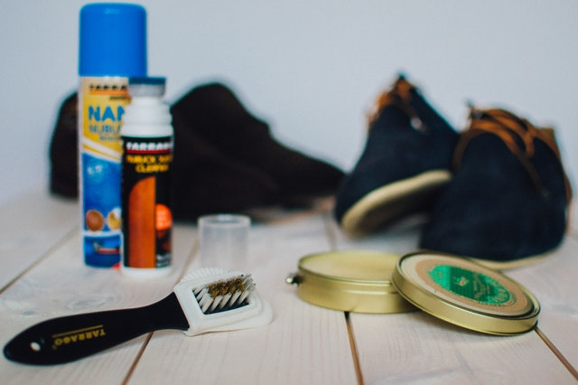 saddle soap and a small brush