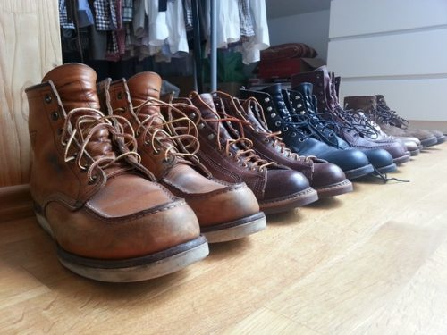 work boots in different style