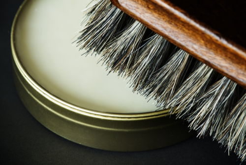 shoe brush and polisher